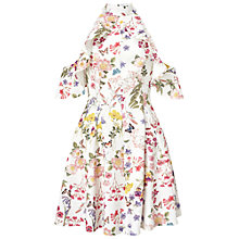 Buy Miss Selfridge Printed Cold Shoulder Dress, Multi Online at johnlewis.com