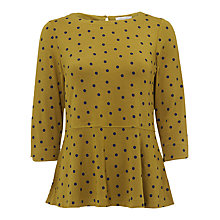 Buy White Stuff Spotty Polly Top, Spring Green Online at johnlewis.com