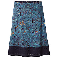 Buy White Stuff Deloris Skirt, Wallpaper Blue Online at johnlewis.com