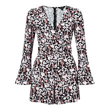 Buy Miss Selfridge Blossom Wrap Playsuit, Multi Online at johnlewis.com