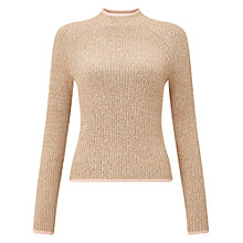 Buy Miss Selfridge Funnel Neck Jumper, Camel Online at johnlewis.com