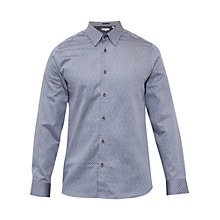Buy Ted Baker Teoface Geo Print Cotton Shirt Online at johnlewis.com