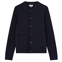 Buy Jigsaw Cotton Milano Trucker Jacket, Navy Online at johnlewis.com