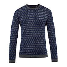 Buy Ted Baker Vince Geo Design Crew Neck Jumper Online at johnlewis.com