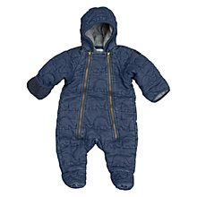 Buy Polarn O. Pyret Baby Elephant Print Pramsuit, Navy Online at johnlewis.com