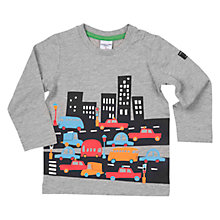 Buy Polarn O. Pyret Baby City Top, Grey Online at johnlewis.com