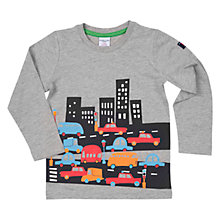 Buy Polarn O. Pyret Boys' City Top, Grey Online at johnlewis.com
