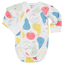 Buy Polarn O. Pyret Baby Fruit Bodysuit, White Online at johnlewis.com
