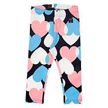 Buy Polarn O. Pyret Baby Heart Leggings, Blue/Pink Online at johnlewis.com