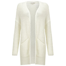 Buy Miss Selfridge Longline Boucle Cardigan, Cream Online at johnlewis.com