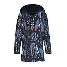 Buy Fat Face Children's Surfboard Print Beach Poncho, Navy Online at johnlewis.com