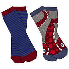 Buy Fat Face Children's Sea Creature Socks, Pack of 2, Grey/Blue Online at johnlewis.com