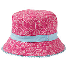 Buy Fat Face Children's Sea Geo Print Bucket Hat, Fuschia Online at johnlewis.com