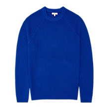 Buy Reiss Cookly Ribbed Crew Neck Jumper, Cobalt Blue Online at johnlewis.com