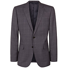 Buy Jaeger Windowpane Check Regular Fit Suit Jacket, Grey Online at johnlewis.com