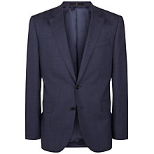 Buy Jaeger Basketweave Check Regular Fit Suit Jacket, Blue Online at johnlewis.com