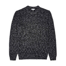 Buy Reiss Tazer Flecked Crew Neck Jumper, Navy Online at johnlewis.com
