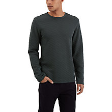 Buy Jaeger Quilted Cotton Sweatshirt Online at johnlewis.com