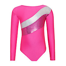 Buy Tappers and Pointers Sparkling Stripes Gymnastics Leotard, Pink Online at johnlewis.com