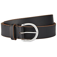 Buy Lauren Ralph Lauren Endbar Leather Belt, Black/Brown Online at johnlewis.com