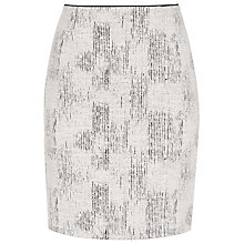 Buy Reiss Vivienne Jacquard Skirt, Black/Off White Online at johnlewis.com