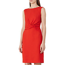 Buy Reiss Erica Fitted Dress, Cherry Online at johnlewis.com