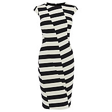 Buy Karen Millen Mixed Stripe Pencil Dress, Black/White Online at johnlewis.com