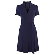 Buy Karen Millen Soft Tailoring Pleat Dress, Navy Online at johnlewis.com