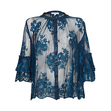 Buy Ghost Lucia Blouse, Slate Blue Online at johnlewis.com