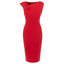 Buy Karen Millen Fold Detail Pencil Dress, Red Online at johnlewis.com