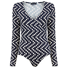 Buy Warehouse Chevron Wrap Body, Black Pattern Online at johnlewis.com