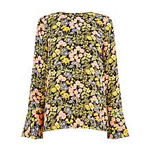 Buy Warehouse Garden Posey Top, Black/Multi Online at johnlewis.com