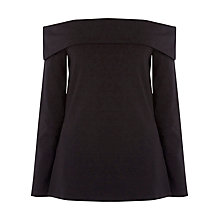 Buy Warehouse Bardot Top, Black Online at johnlewis.com