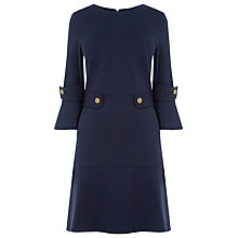 Buy Warehouse Ponte Popper Dress, Navy Online at johnlewis.com