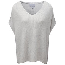 Buy Pure Collection Brooke Ribbed Gassato Cashmere Poncho Online at johnlewis.com