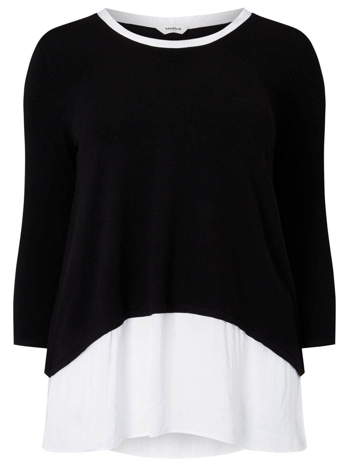 Studio 8 Studio 8 Kassandra Top, Black/White