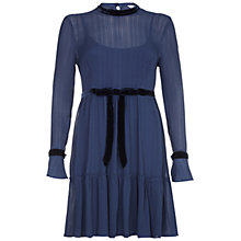 Buy Ghost Delany Dress, Slate Blue Online at johnlewis.com