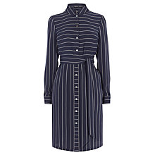 Buy Karen Millen Stripe Shirt Dress, Navy Online at johnlewis.com