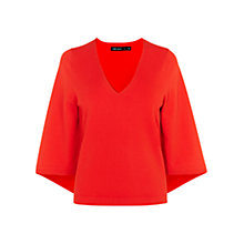 Buy Karen Millen Kimono Sleeve Jumper, Red Online at johnlewis.com