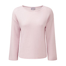 Buy Pure Collection Audrey Flute Sleeve Sempre Jumper, Soft Oyster Online at johnlewis.com