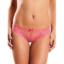 Buy Chantelle Rive Gauche Tanga, Flamingo Online at johnlewis.com