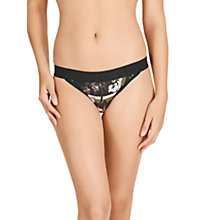 Buy Bonds New Era Skimpy Bikini Briefs, Stone Roses Black Online at johnlewis.com