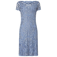 Buy Phase Eight Talia Embroidered Dress, Bluebell Online at johnlewis.com