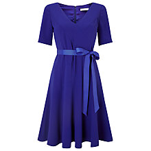 Buy Jacques Vert Crepe Fit And Flare Dress, Mid Blue Online at johnlewis.com