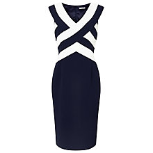 Buy Jacques Vert Panel Layered Shift Dress, Navy/Multi Online at johnlewis.com