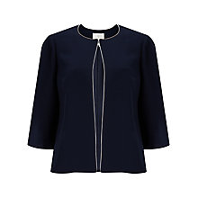 Buy Jacques Vert Crepe Cape, Navy Online at johnlewis.com