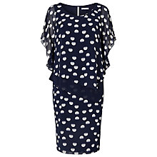 Buy Jacques Vert Spot Layer Dress, Multi Navy Online at johnlewis.com