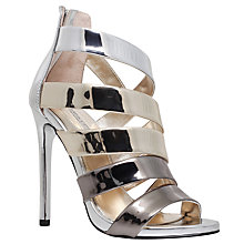 Buy Carvela Gleam Occasion Multi Strap Stiletto Sandals, Gold Online at johnlewis.com