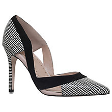 Buy Miss KG Ceile Pointed Toe Court Shoes, Black/White Online at johnlewis.com