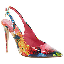 Buy Dune Chelsea Occasion Slingback Court Shoes, Floral Online at johnlewis.com